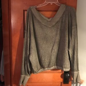 Army Green Free People Long Sleeve!